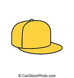 berretto, giallo, rap, icona