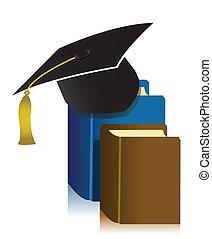 berretto, libro, graduazione
