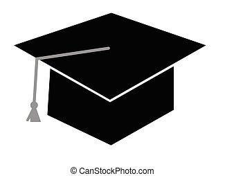 berretto, nero, graduazione