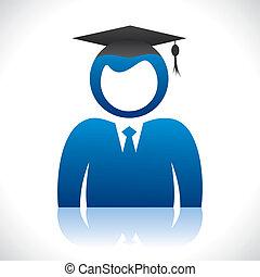 berretto, studente, laureato