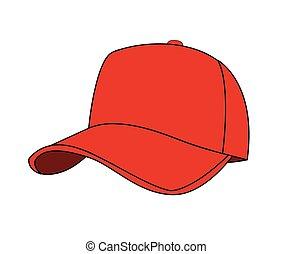 berretto, vettore, baseball, illustrazione
