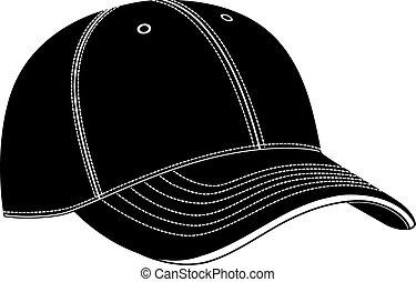 berretto, vettore, baseball