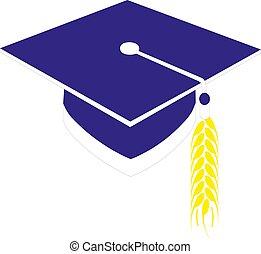 berretto, vettore, eps10, graduazione, illustrazione