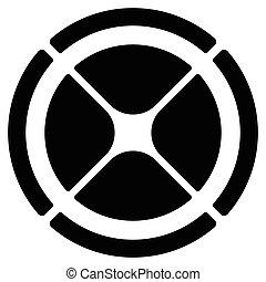bersaglio, gui, simbolo., grafico, cross-hair, segmentato, cerchio, elemento, sagoma