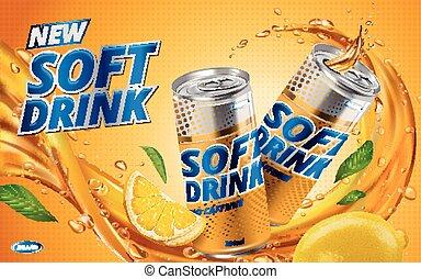 bevanda limone, morbido, nuovo