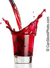 bevanda, rosso, colatura
