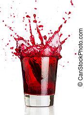bevanda, rosso, schizzo