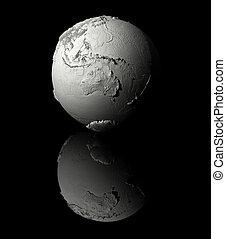 bianco, australia, -, globo