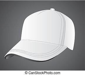 bianco, berretto, illustrazione