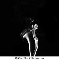 bianco, fumo nero, fondo