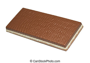 bianco, isolato, cioccolato