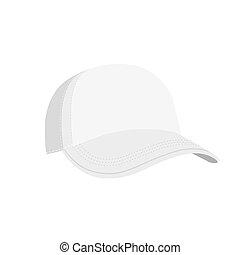 bianco, isolato, vuoto, sagoma, berretto