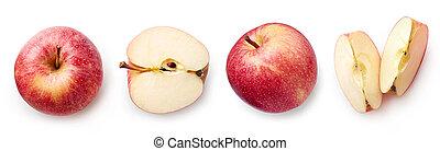 bianco, mela, fondo, fresco