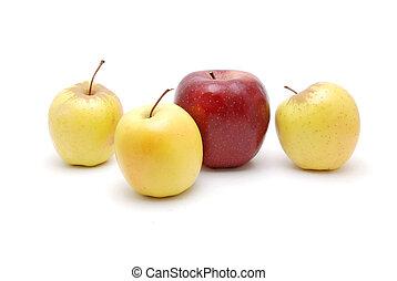bianco, mele, fondo