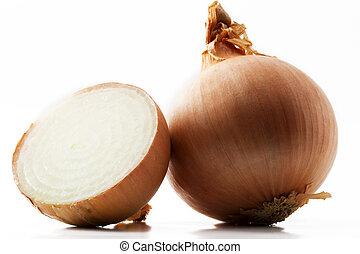 bianco, mezzo, fondo, cipolla, uno
