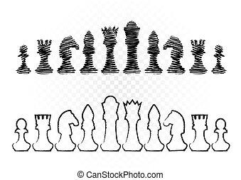 bianco, nero, scacchi