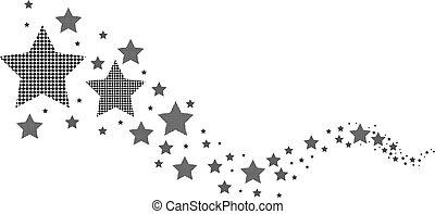 bianco, nero, stelle