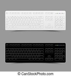 bianco, nero, tastiera
