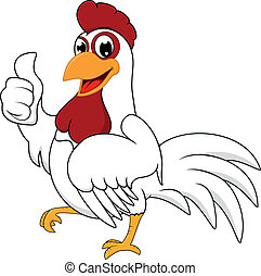 bianco, ok, pollo, felice