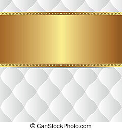 bianco, oro, fondo
