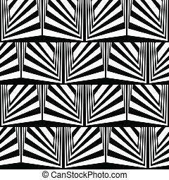bianco, ottico, nero, illusione