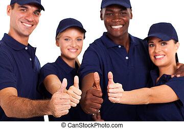 bianco, personale, su, servizio, pollici