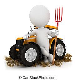 bianco, persone, 3d, contadino