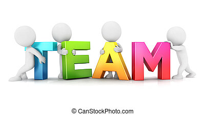 bianco, persone, 3d, squadra