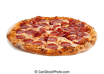 bianco, pizza pepperoni
