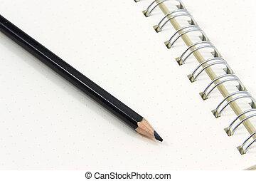 bianco, quaderno, fondo