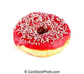 bianco, saporito, isolato, donut