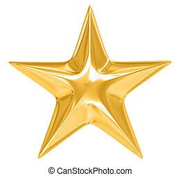 bianco, stella, oro, fondo
