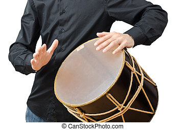 bianco, tamburino, tamburo, gioco