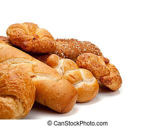 bianco, vario, tipi, fondo, bread
