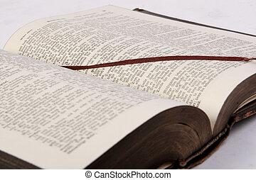 bibbia, h, libro, vecchio, religione