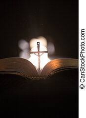 bibbia, mezzo, crocifisso