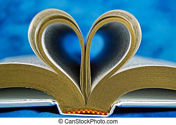 bibbia, pagina, arricciato