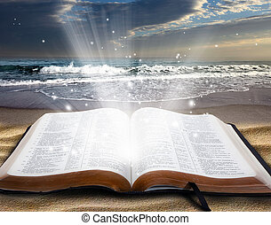 bibbia, spiaggia