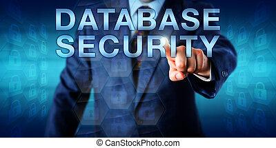 bibliotecario, sicurezza, spinta, database, onscreen