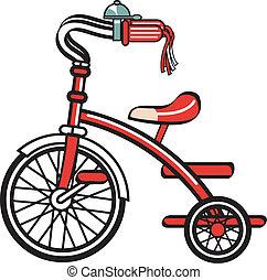 bicicletta, bicicletta, trike, clipart, triciclo