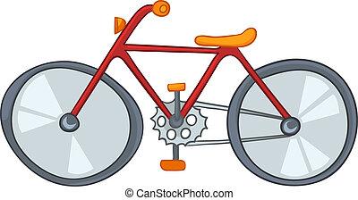 bicicletta, cartone animato