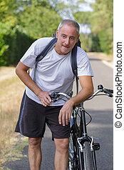 bicicletta cavalca, prosciugato