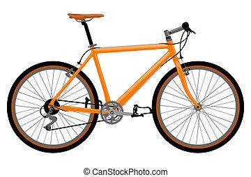 bicicletta, illustration.
