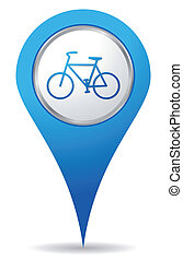 bicicletta, posizione, icone