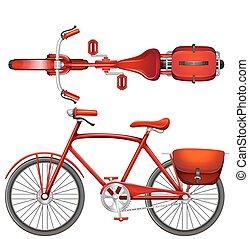 bicicletta, rosso