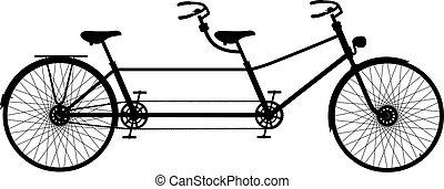 bicicletta tandem, retro