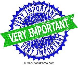 bicolore, rosetta, importante, ruvido, molto, sigillo, francobollo