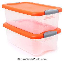 bidone, contenitore memorizzazione, plastica