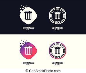 bidone, simbolo., segno, vettore, riciclare, icon.