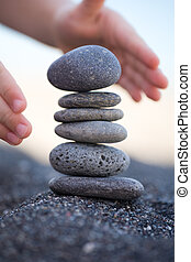bilanciato, pietre